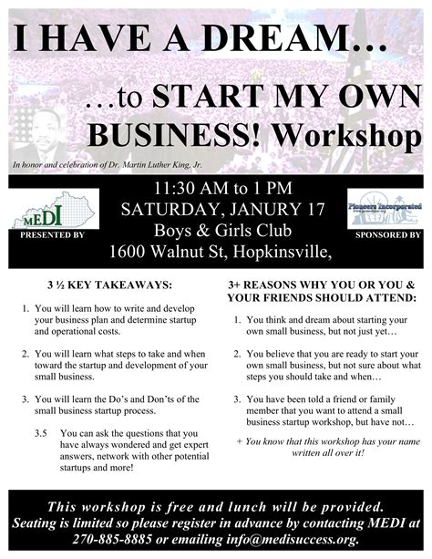 how do i have my own website for free i have a dream to start my own business training workshop