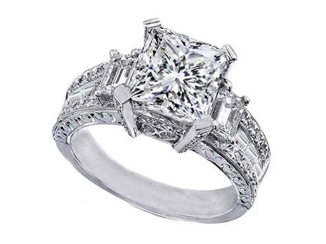 vintage princess cut engagement ring ipunya