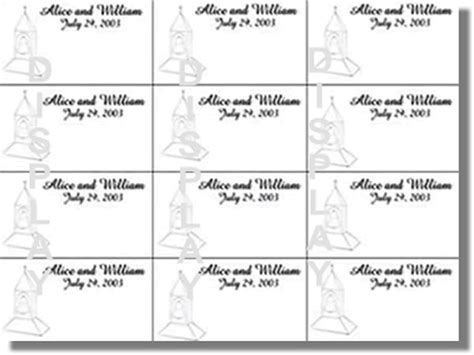 ms word place card template thinkwedding s church steeple collection of print your own