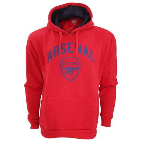 arsenal hoodie arsenal fc mens official large football crest pullover hoodie