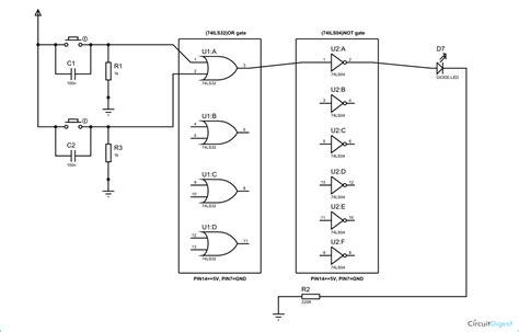 nor gate transistor diagram nor gate circuit diagram working explanation