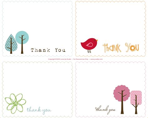 free thank you card templates for word journalingsage
