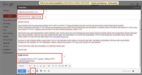 contoh surat lamaran kerja menggunakan via emal