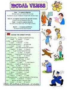 modal verb for kid exercise worksheet teaching the kids