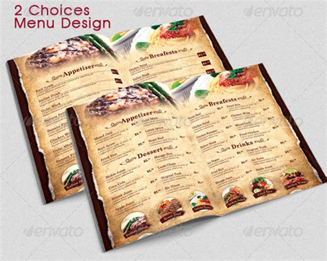 modern restaurant menu templates images