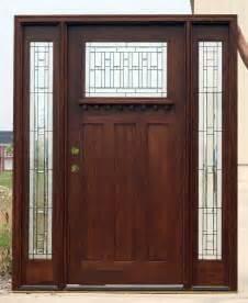 Craftsman Exterior Doors Craftsman Doors With Sidelights Mahogany