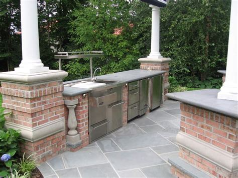 outdoor bbq kitchen ideas bbq outdoor kitchens nj built in grill fireplace design ideas