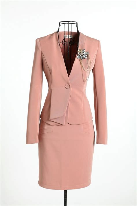 2016 new formal suit blazer with skirt for office