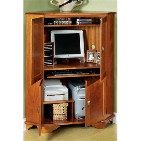 Corner Desk Armoire Computer Corner Armoire To Facilitate Your Work Computer