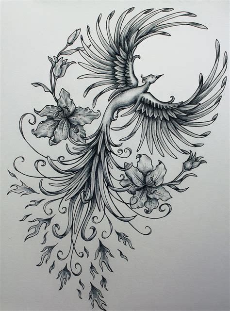 phoenix bird tattoo henna designs on tattoos henna