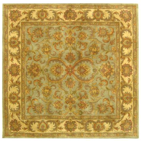 8 Foot Square Area Rugs Safavieh Heritage Green Gold 8 Ft X 8 Ft Square Area Rug Hg811a 8sq The Home Depot