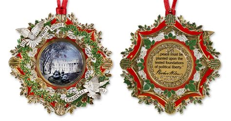 white house christmas ornament invitation template