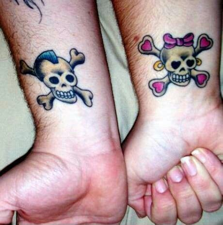 his and hers skull tattoos top his and hers foot tattoos images for tattoos