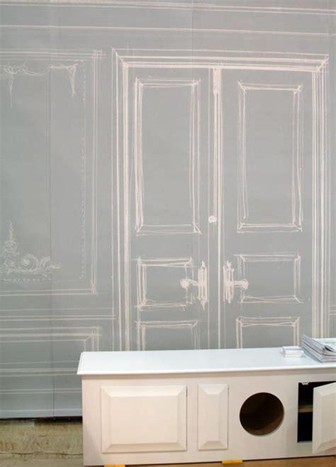 trompe l oeil wallpaper icff 2008 trompe l œil ghost wallpaper apartment therapy