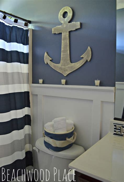 Navy Blue And Coral Bathroom » Home Design 2017