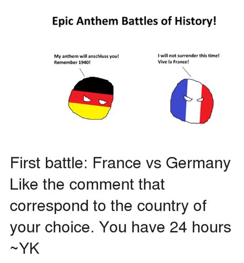 Meme Definition French - epic anthem battles of history i will not surrender this