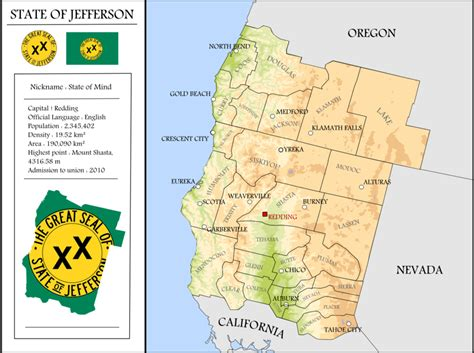 map of jefferson oregon map of the state of jefferson by coliop kolchovo on deviantart