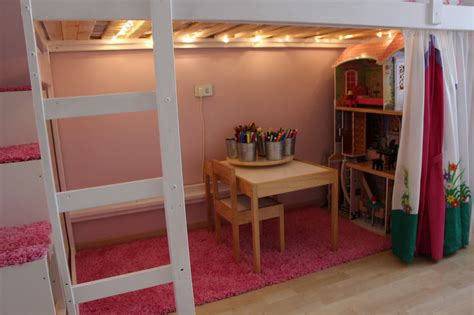 Ribba Ledge by Mydal Loftbed With Play Area For S Room Ikea