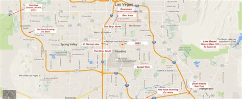 map of las vegas running in las vegas nevada best routes and places to