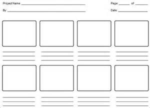 Storyboarding Template by Education Storyboard Templates 9 Free Sle Exle