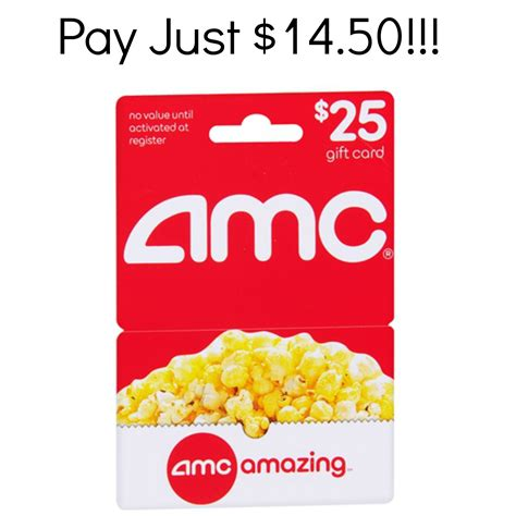 Theatre Tickets Gift Card - hurry 25 amc theater gift card just 14 50