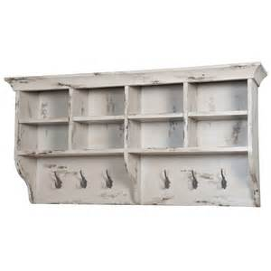 Hanging Wall Shelves White Distressed Coat Rack Shelf Hanging Wall Shelf