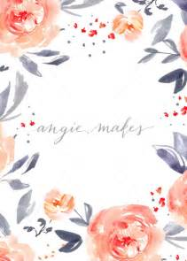 flower border template blue and pink watercolor flower border blank watercolor