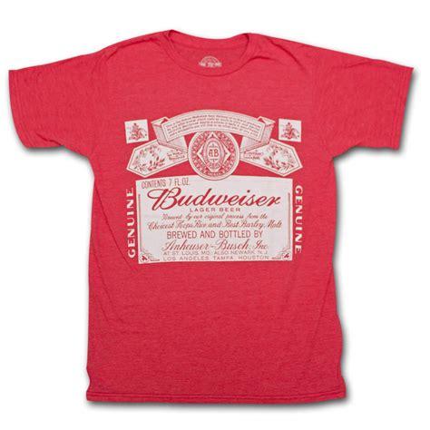 Tees Kaos T Shirt Budweiser budweiser classic logo t shirt