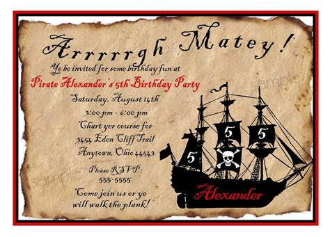 printable birthday card pirate free printable pirate party invitations home party ideas