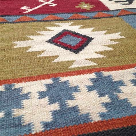 wool runner rug patchwork design wool and cotton rug runner by jones vintage notonthehighstreet