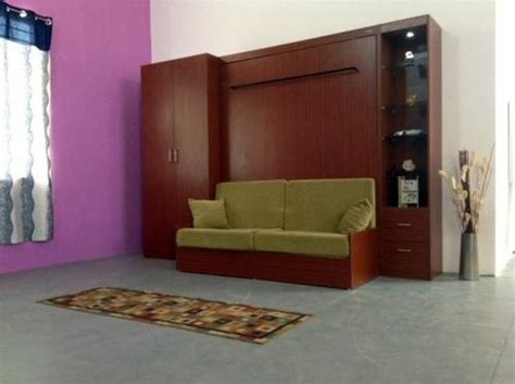 Wall Bed Wardrobe by Modular Wall Bed With Wardrobe And Display And Sofa Futur Decor Solutions Pvt Ltd