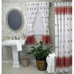 shower curtain color burgundy