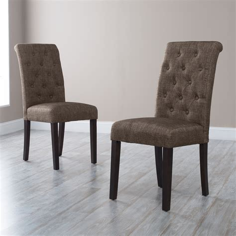 dining room parson chairs morgana onyx tufted parsons dining chair set of 2 at