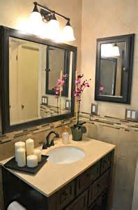 Framed Bathroom Mirrors Ideas bathroom with oil rubbed bronze accents contemporary