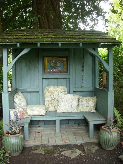 backyard shelters lovely shabby little garden shelter garden pinterest