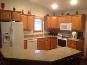 Kitchen Cabinets Leave Honey Oak Or Paint White Mocked