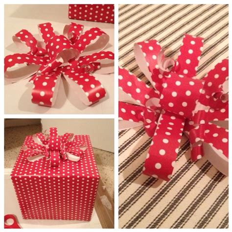 Bows Out Of Wrapping Paper - wrapping paper bow diy crafts