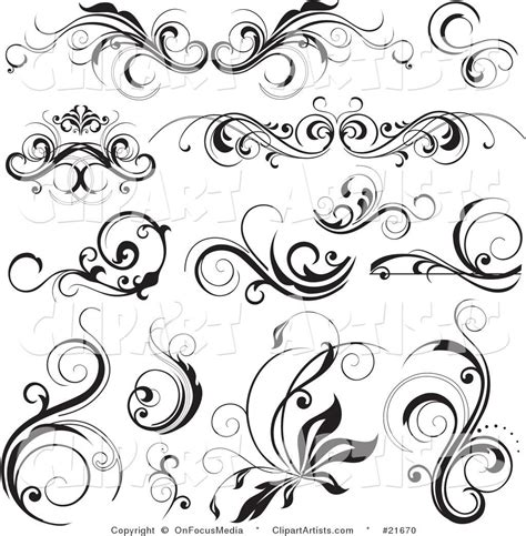 filigree clip art continue reading set of floral clipart vector jaxstorm realverse us