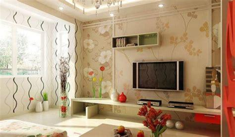 desain wallpaper dinding ruang tamu ragam motif sketsa