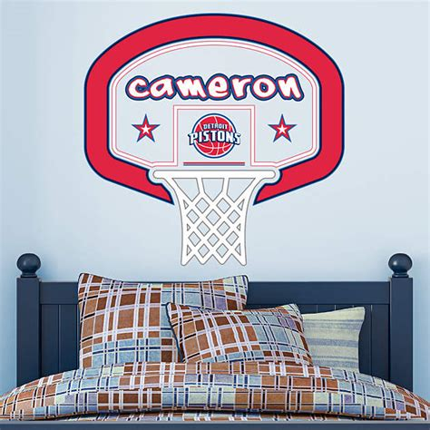 custom fatheads wall stickers detroit pistons personalized name wall decal shop