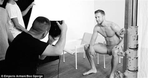 Celebrity Skin Calvin Harris Shows Major Bulge For Emporio Armani Manhunt Daily
