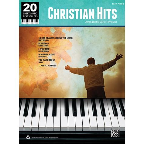 you at piano books alfred 20 sheet bestsellers christian hits easy