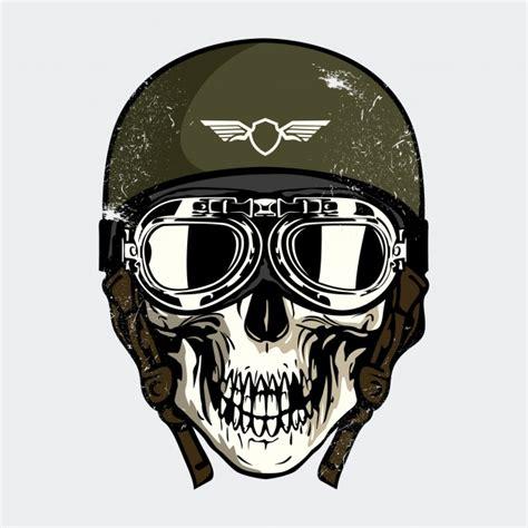 Cranio Helm Aufkleber by Cr 226 Nio Capacete Militar Baixar Vetores Premium