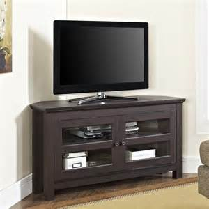 corner tv stands 44 quot wood corner tv stand in espresso wq44ccres