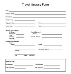 Free Travel Templates by Travel Itinerary Template 5 Documents In Pdf