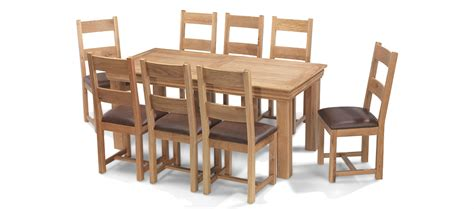 Oak Dining Table And 8 Chairs Constance Oak 180 Cm Dining Table And 8 Chairs Quercus Living