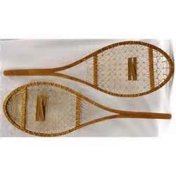 Handmade Snowshoes - pair handmade wood decorative snowshoes