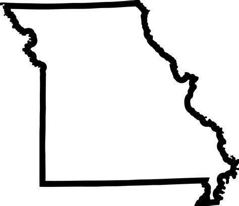 Missouri State Outline by Missouri State Outline Mo1 Mo1 4 99 Eyecandy Decals Clipart Best Clipart Best