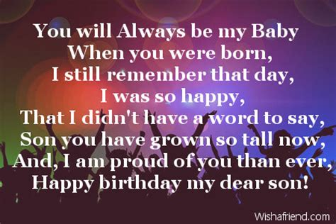 Happy Birthday Quotes For Sons by Happy Birthday Quotes Quotesgram