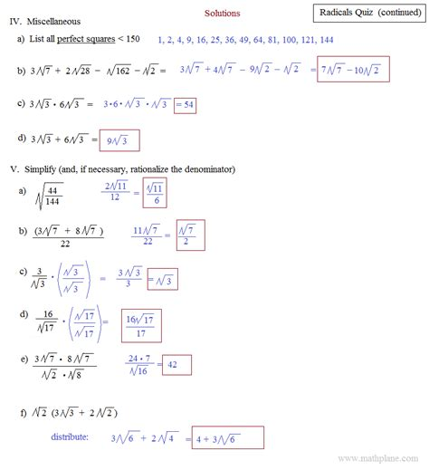 Simplifying Square Roots Worksheet by Operations With Radicals Worksheet Lesupercoin Printables